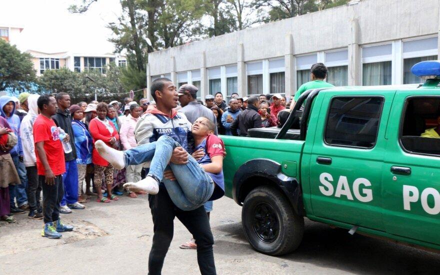 Tragiškas futbolas Madagaskare