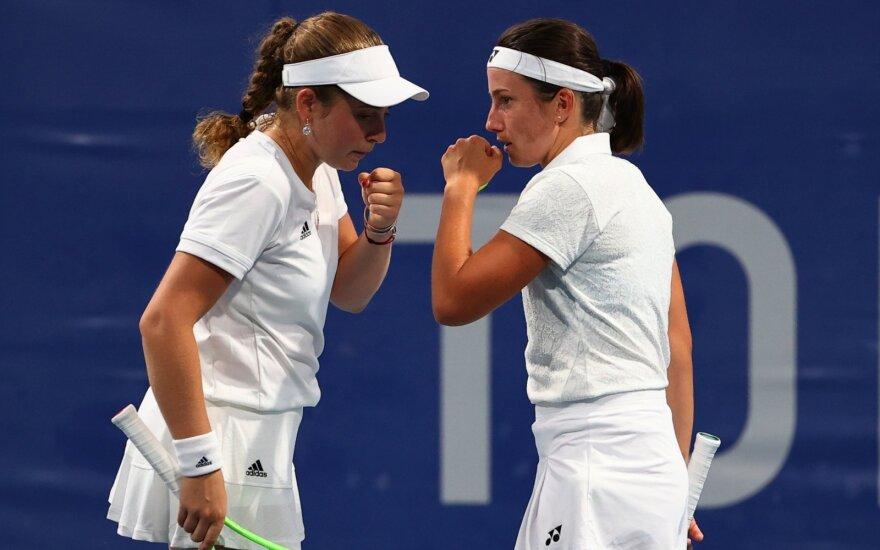 Jelena Ostapenko ir Anastasija Sevastova