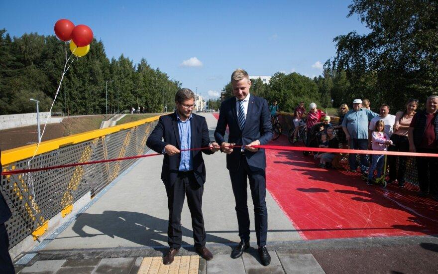 Vilniuje atidarytas naujas T. Narbuto viadukas