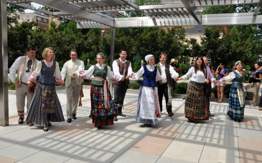 National dances at the Lithuania Embassy in the US