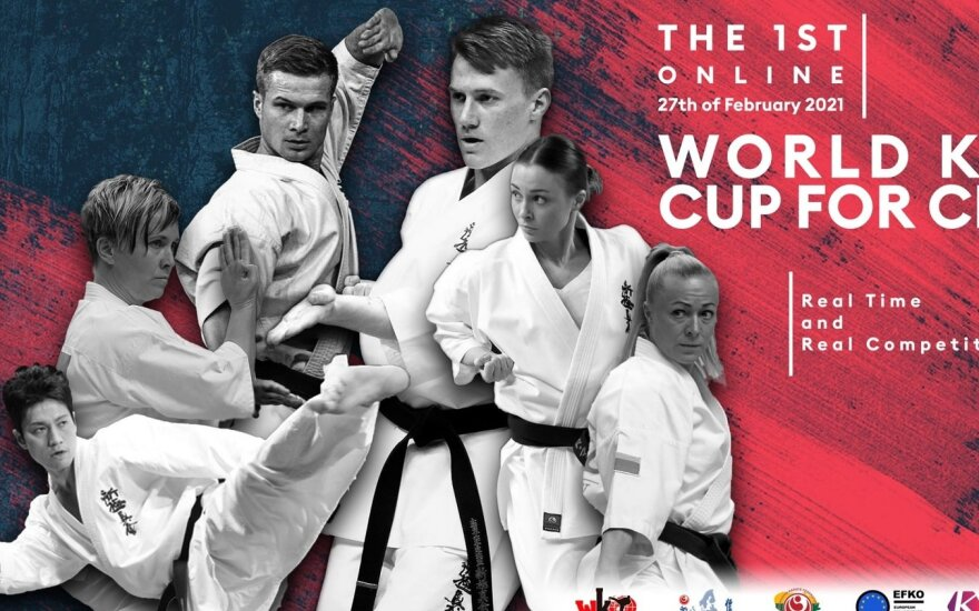 Virtualios kiokušin karate klubų taurės varžybos / Reklaminis plakatas