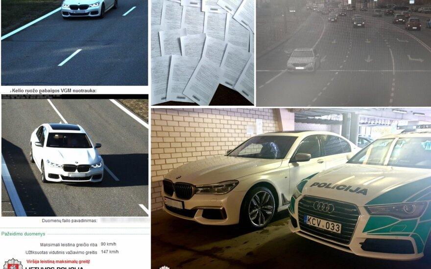 36 kartus greitį Lietuvos keliuose viršijęs BMW
