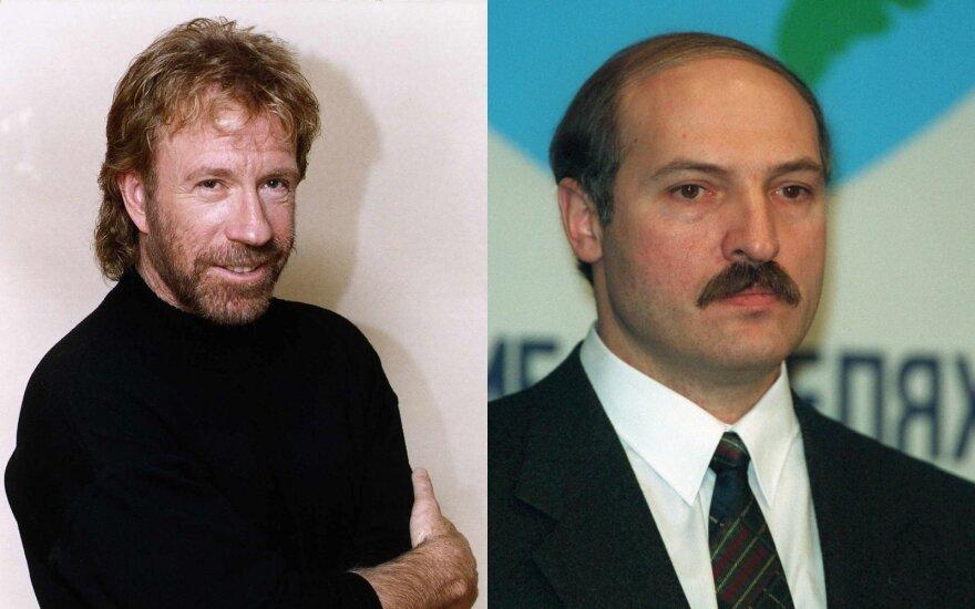 Chuckas Norrisas ir Aliaksandras Lukašenka/ Foto: Vida Press