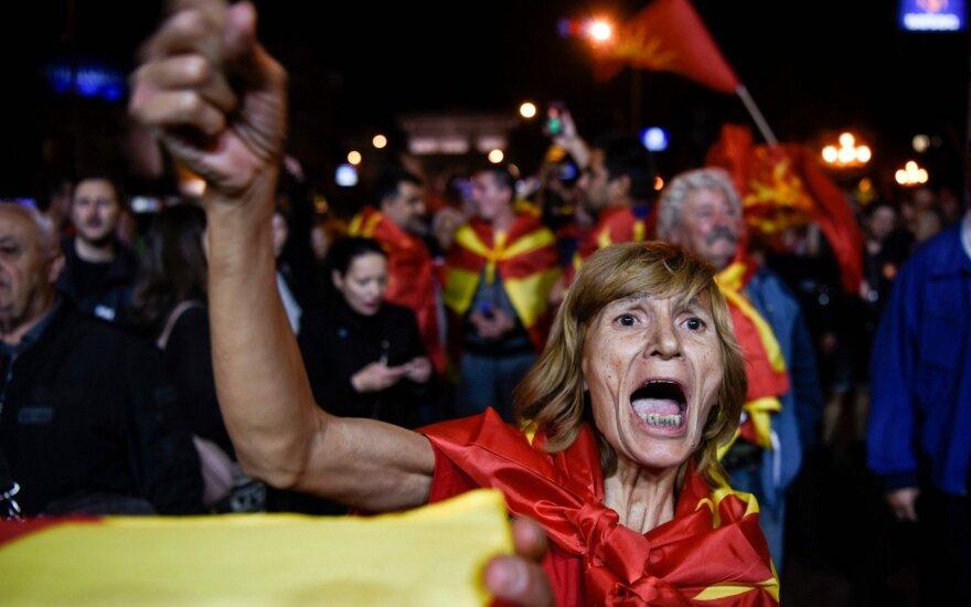 Makedonija: referendume dalyvavo tik trečdalis rinkėjų