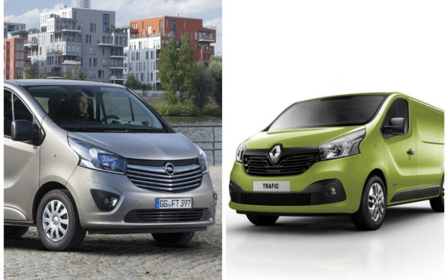 Opel Vivaro ir Renault Trafic