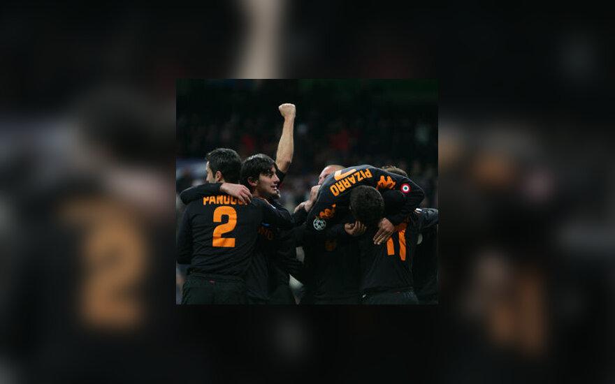 """""""AS Roma"""" futbolininkai triumfuoja"""
