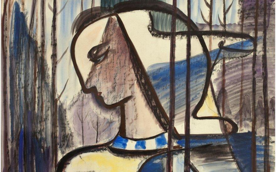 """Adomas Galdikas, """"Pavasariška"""", 1934 m."""