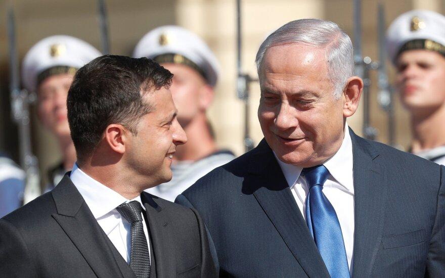 Volodymyras Zelenskis, Benjaminas Netanyahu