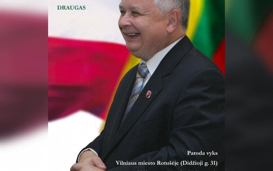 Vilniuje atidaroma nuotraukų paroda apie L.Kaczynskį