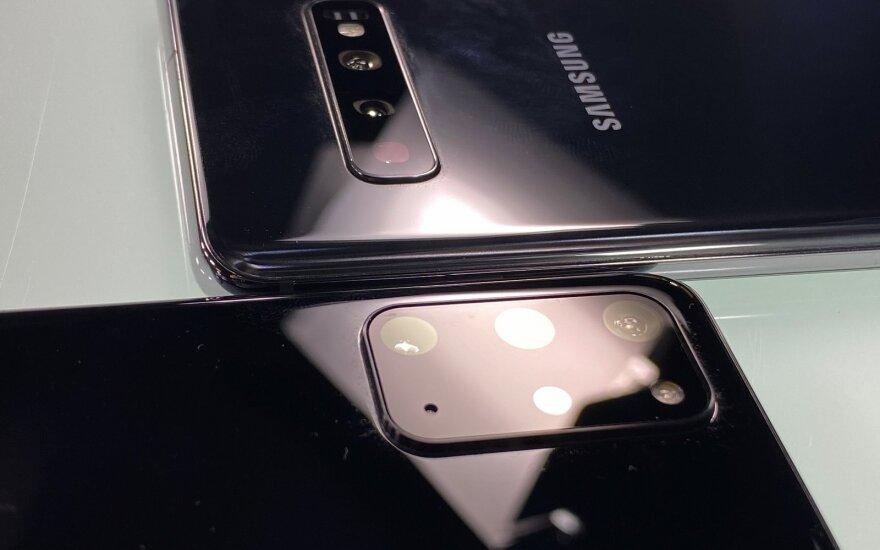 Samsung Galaxy S20+ 5G ir Sasmung Galaxy S10+