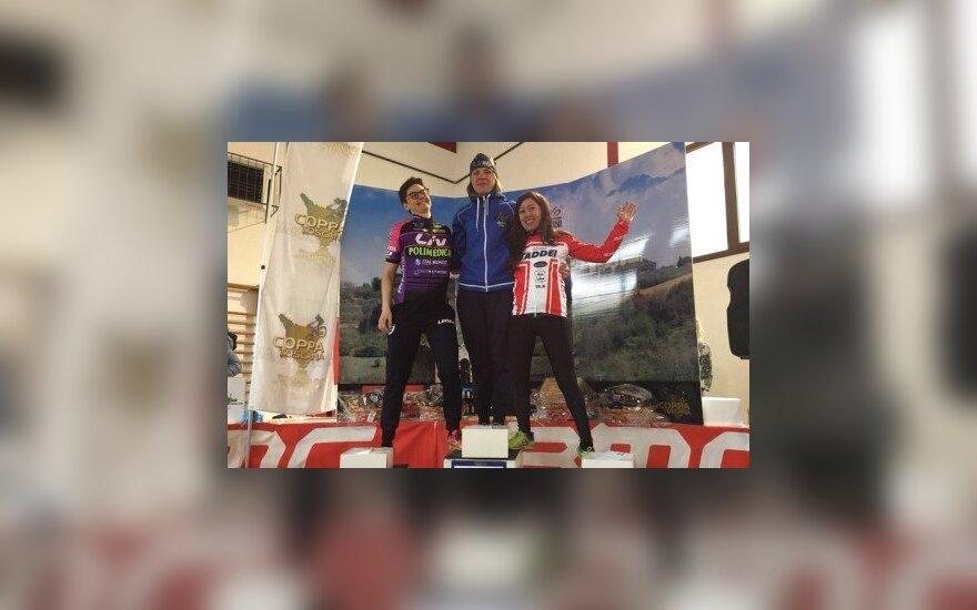 Italijoje – antra dviratininkės Sosnos pergalė šiame sezone