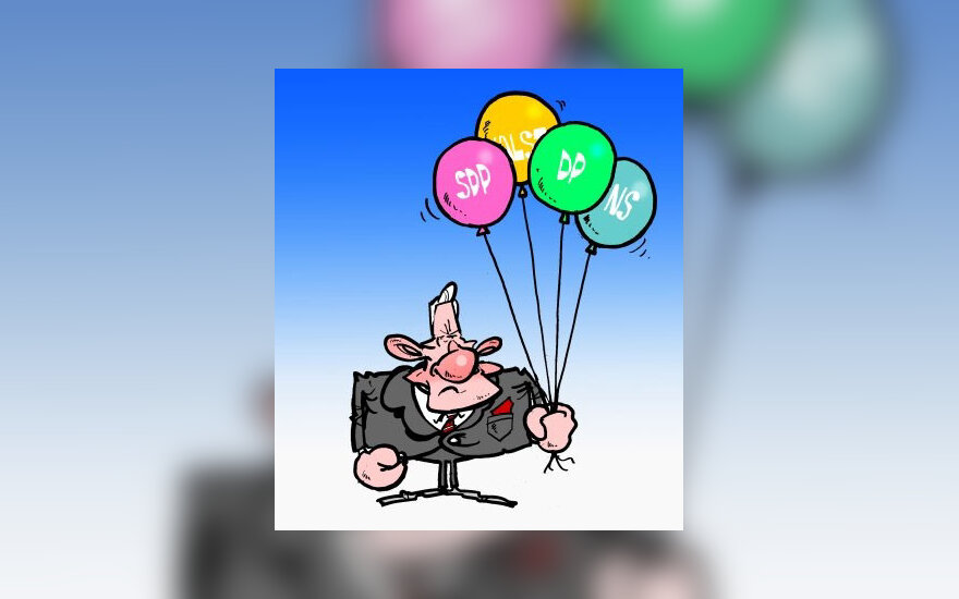 Valdančioji koalicija, Algirdas Brazauskas - karikatūra