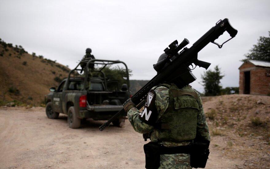 Meksikoje patekę į pasalą nušauti penki policininkai