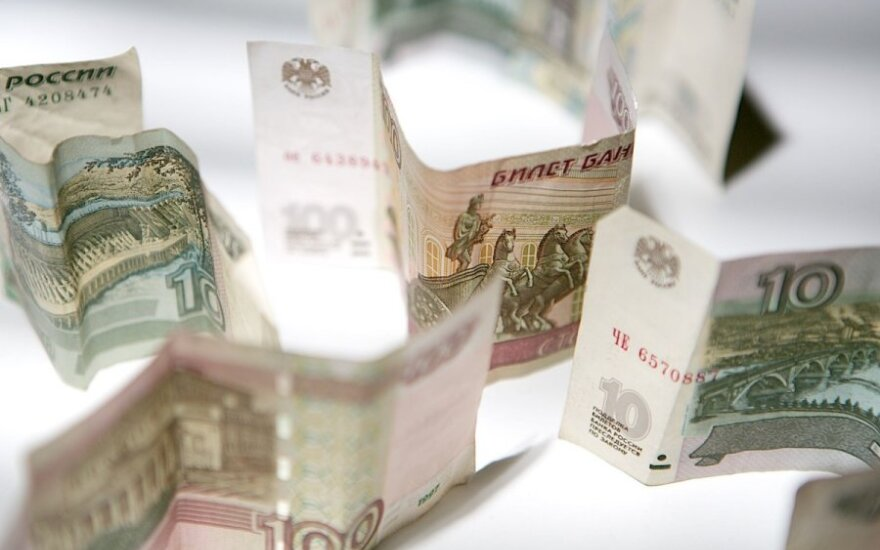Rusijos centrinis bankas: BVP nuosmukis paskutinį ketvirtį gali padidėti iki 5 proc.