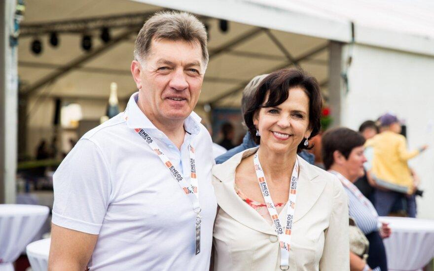 Algirdas Butkevičius su žmona