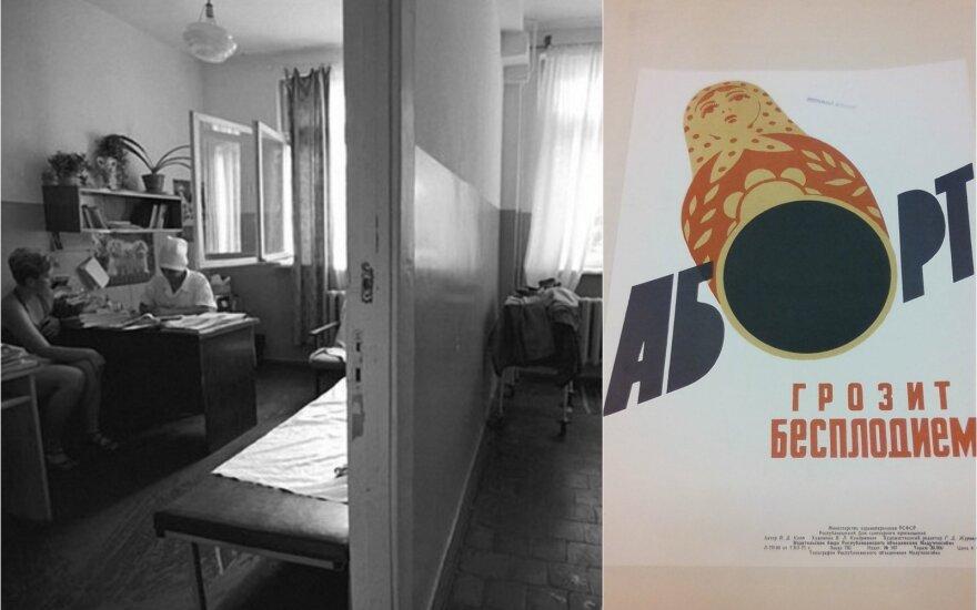 Sovietinė įstaiga / Sovietinis plakatas, nukreiptas prieš abortus