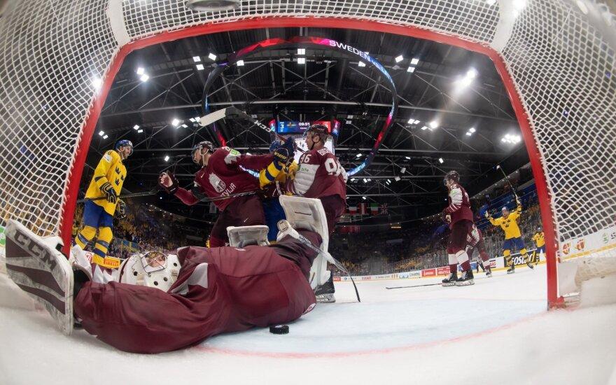 Latvijos ledo ritulininkai nusileido Švedijai