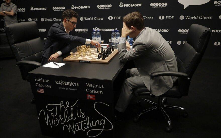 Fabiano Caruana ir Magnusas Carlsenas