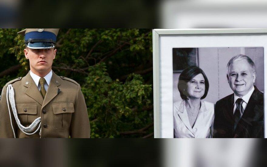 Lechas Kaczynskis ir Maria Kaczynska