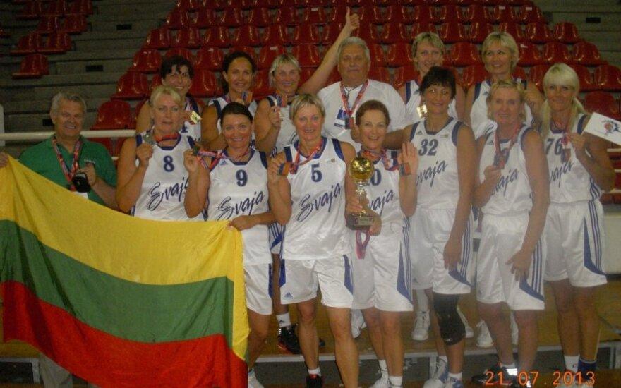 """Vilniaus """"Svaja"""" -  pasaulio veteranų krepčinio čempionato nugalėtoja"""