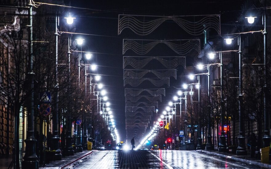 Gediminas Av at night