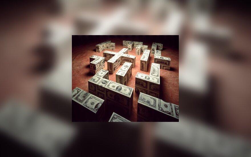 Pinigai, doleriai, pinigų miestas, banknotai, labirintas