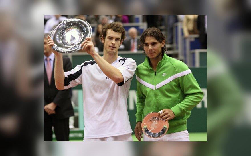 Roterdamo teniso turnyro finale A.Murray'us įveikė R.Nadalį