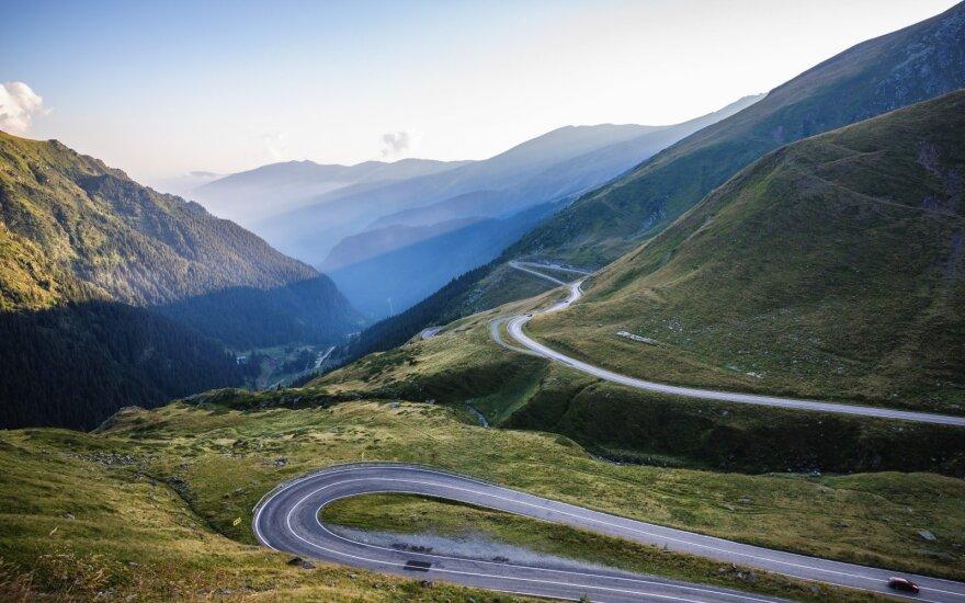 Rumunijos kalnų serpantinai