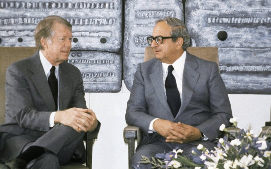 Yitzhak Navon (right) with Jimmy Carter in 1979