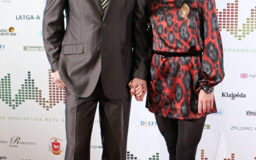 Edita Daniūtė su vyru