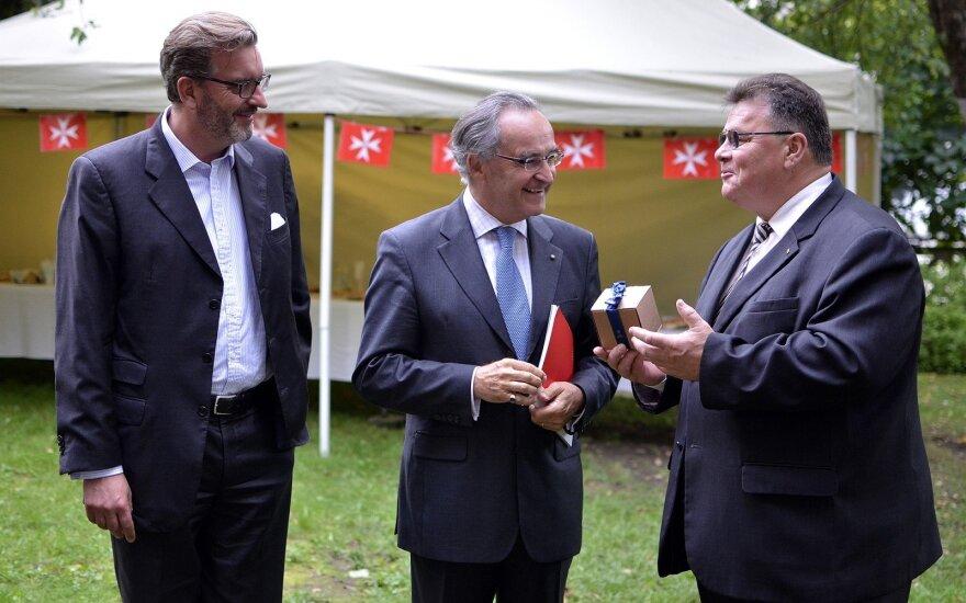 L. Linkevičius padėkojo už Maltos ordino misiją Lietuvoje