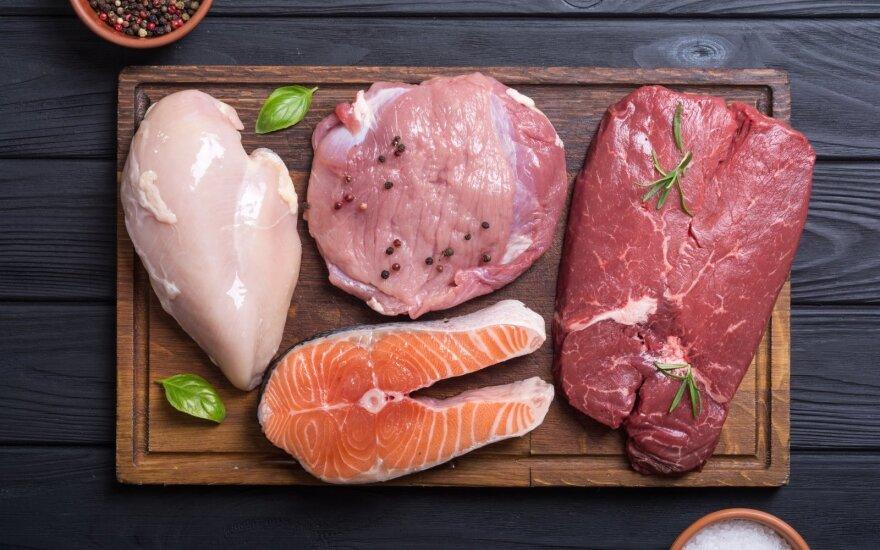 Šviežia mėsa ir žuvis