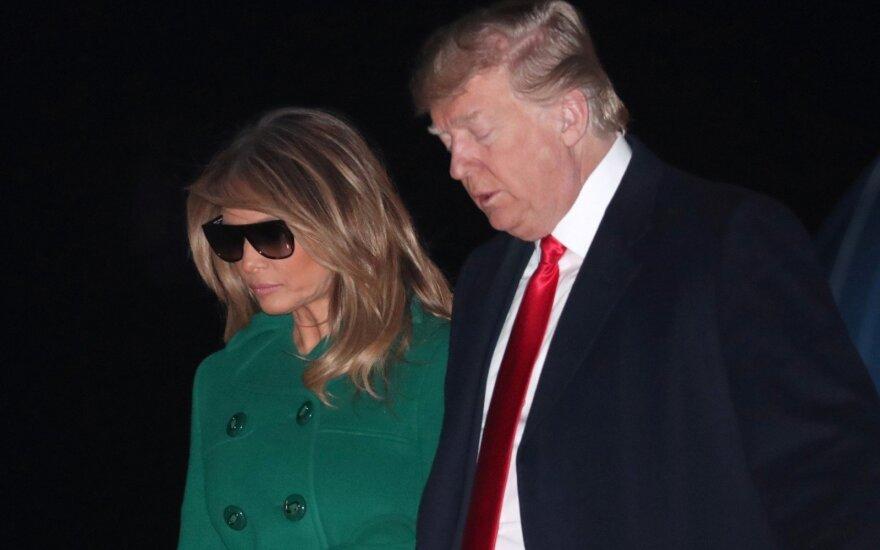 Donaldas Trumpas ir jo žmona Melania
