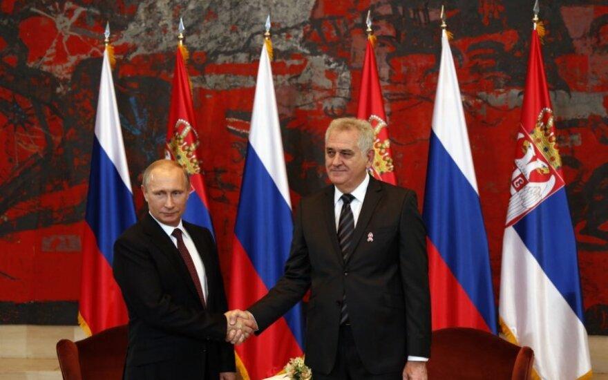 Vladimir Putin with President of Serbia Tomislav Nikolić