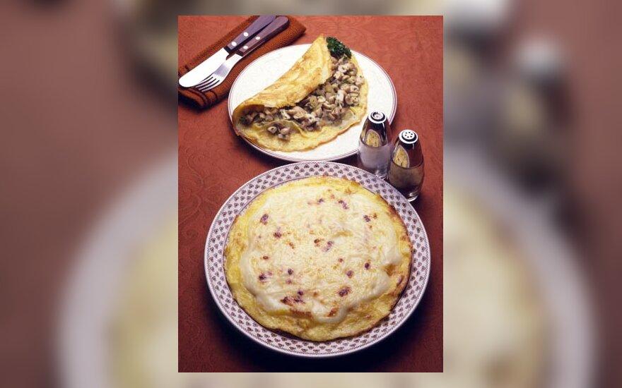 Omletas, pusryčiai, maistas