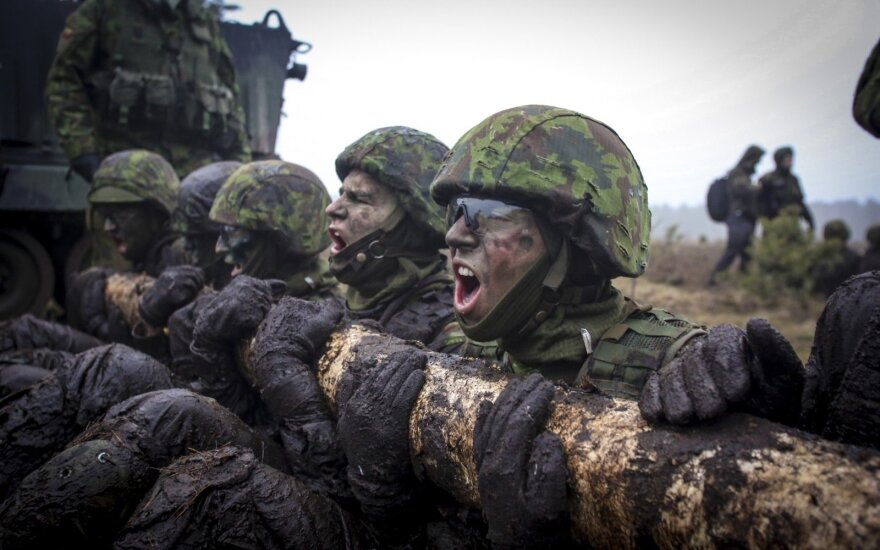 Lithuanian troops exercise in Rukla