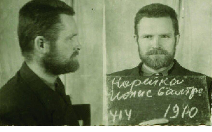 Jono Noreikos nuotrauka iš baudžiamosios bylos 1946 m. (Lietuvos ypatingojo archyvo nuotr.)