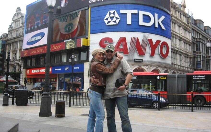 Džordana Butkutė ir Sergejus Gorbonas Londone, Anglija. 2007-ieji.