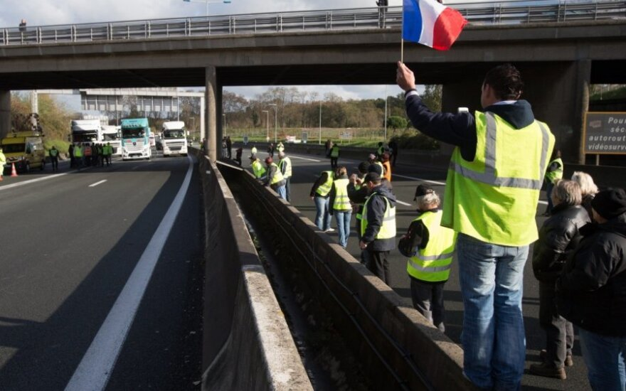 Nedarbo lygis Prancūzijoje siekia rekordines aukštumas