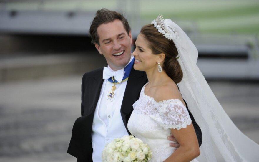 Švedijos princesė Madeleine pagimdė mergytę