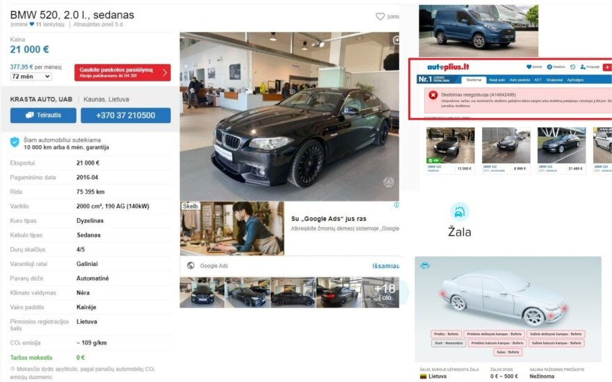 """""""Niekad nedaužtą"""" BMW iš atstovų panorusi nusipirkti moteris nemaloniai nustebo: toks automobilis turėjo būti nurašytas"""