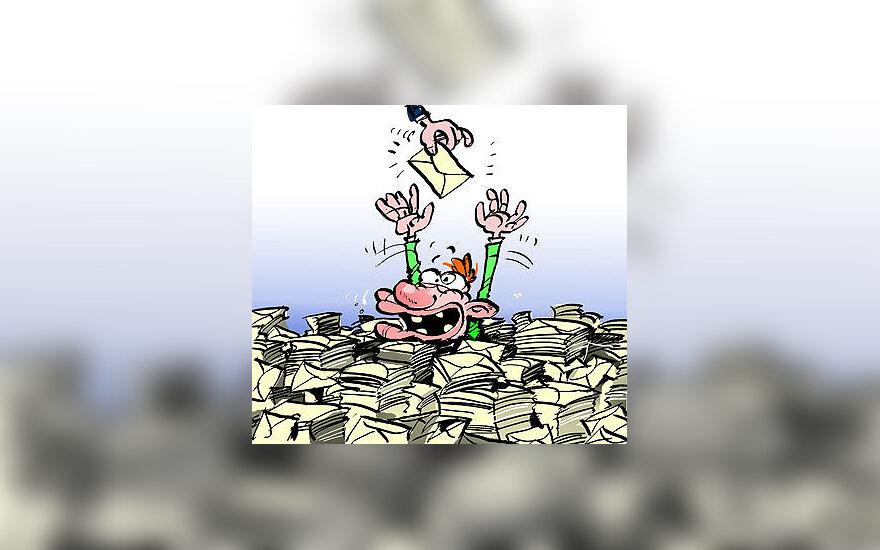 Alga vokelyje - karikatūra