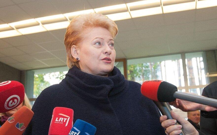 D.Grybauskaitė: AE nauda abejoja mažiau nei trečdalis balso teisę turinčių piliečių