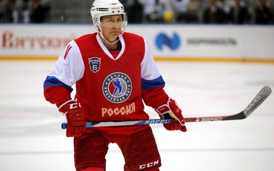V. Putinas ledo ritulio aikštelėje