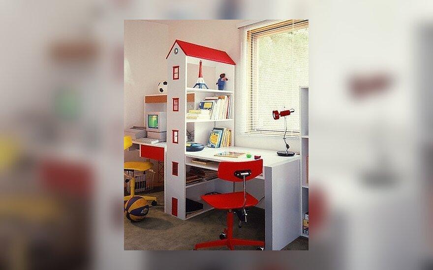 Vaiko kambarys, interjeras