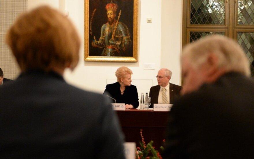 Lithuanian President Dalia Grybauskaitė and EU Council President Herman Van Rompuy at Vilnius Summit