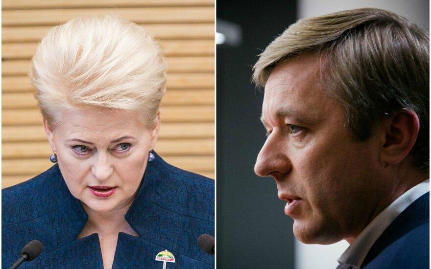 Dalia Grybauskaitė and Ramūnas Karbauskis