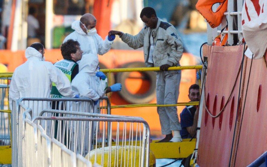Prie Ispanijos krantų išgelbėta daugiau kaip 450 migrantų