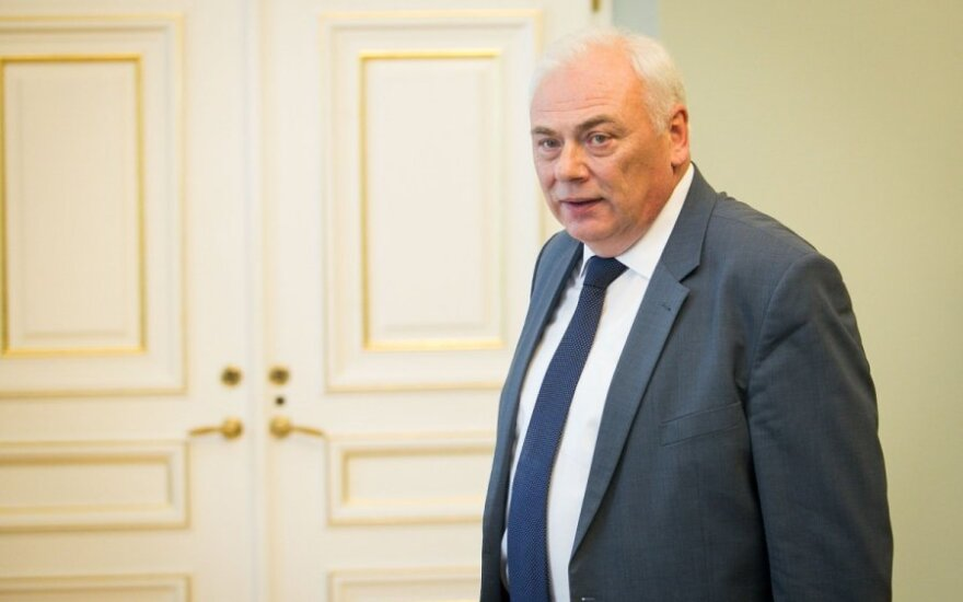 Lithuania's Interior Minister Dailis Alfonsas Barakauskas