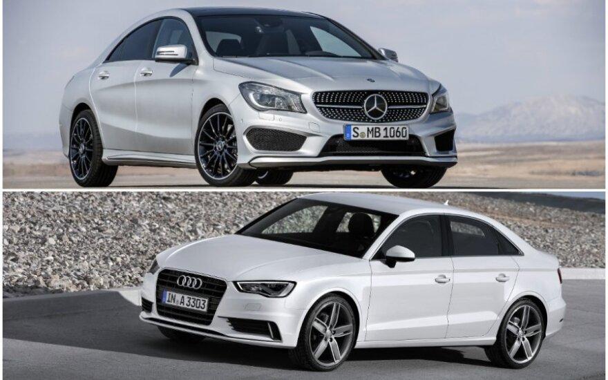 Audi A3 prieš Mercedes-Benz CLA